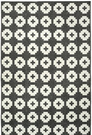 These eye catching and durable plastic woven rugs from Brita Sweden are designed and woven in Sweden and will add a touch of Scandinavia to any home.