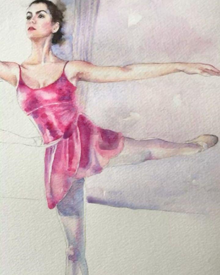 """""""Mi piace"""": 100, commenti: 19 - Anna G. (@anna_g_fashion) su Instagram: """"In progress 🎨🎶 ________________________________________________________#watercolor #ballet…"""""""