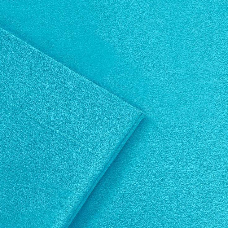 Sleep Philosophy 3M Scotchgard Performance Fleece Sheets, Turquoise/Blue Queen (Turq/Aqua)