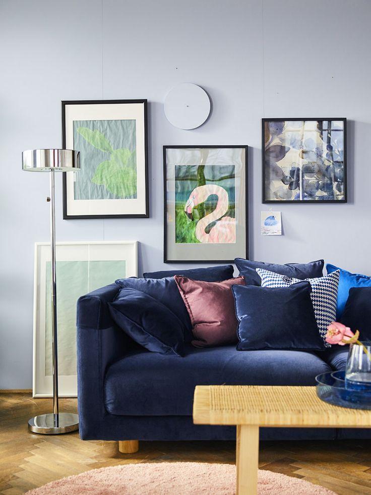 Stockholm 2017 3er Sofa Sandbacka Dunkelblau Ikea Deutschland Dunkelblaues Wohnzimmer Wohnzimmerdekoration Und Blaue Couch Wohnzimmer