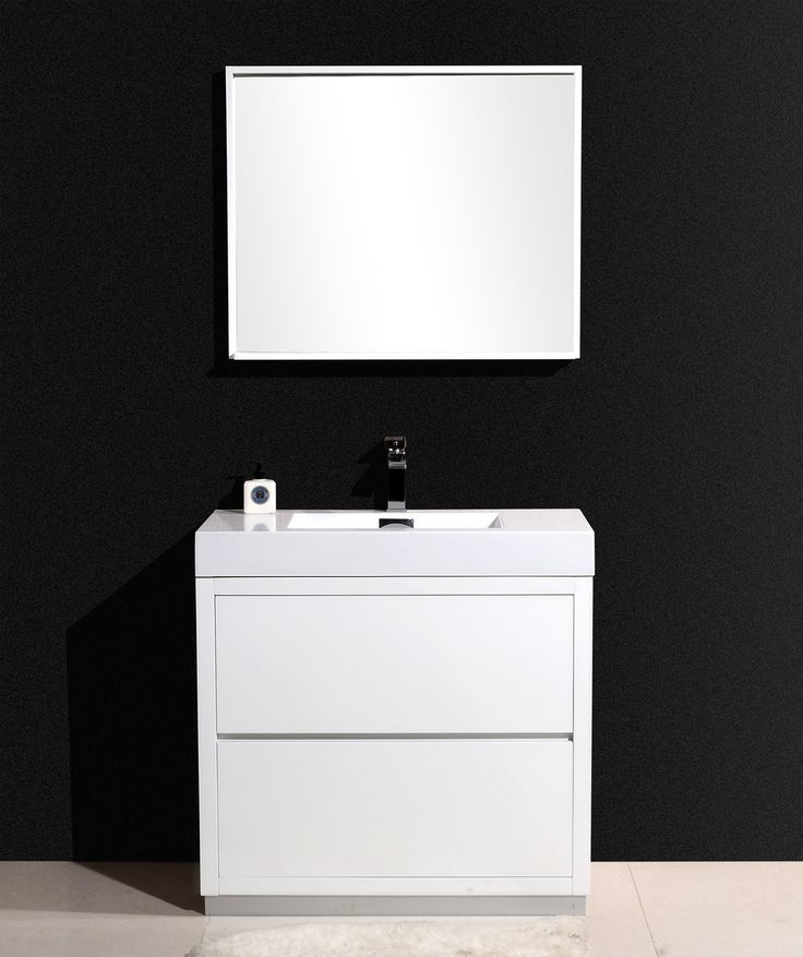 The Bliss is one of the most elegant modern Bathroom Vanities around.  This 30 Inch model comes with a reinforced Acrylic composite sink, Marine Veneer Construc