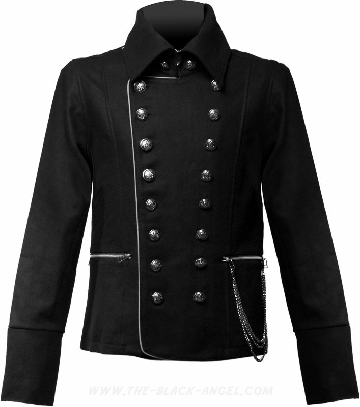Men's gothic jacket, vintage military uniform style, by Queen of Darkness Clothing.