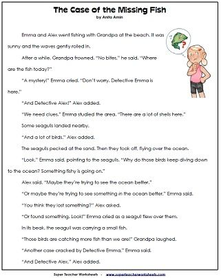 Loads of Reading Comprehension Sheets. Short stories with comprehension questions to answer. Compare & contrast.