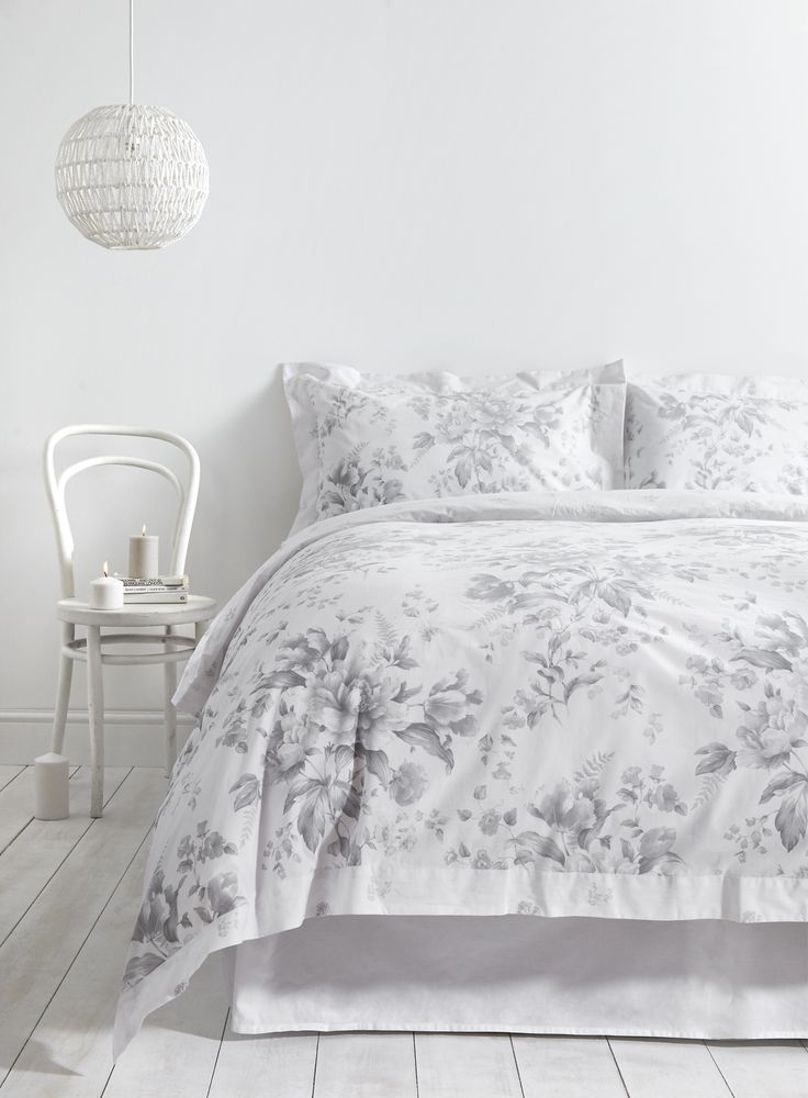 Holly Willoughby Rugby Floral Duvet Cover - from £45 This Holly Willoughby Ruby bed linen range has a sophisticated grey floral pattern set against crisp white cotton