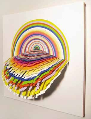 Colorful paper craft ideas contemporary wall art paper for 3d paper craft ideas from jen stark