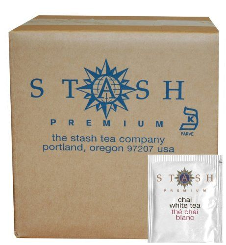 Stash Tea White Chai Tea, 100 Count Box of Tea Bags in Foil * Read more at the image link.