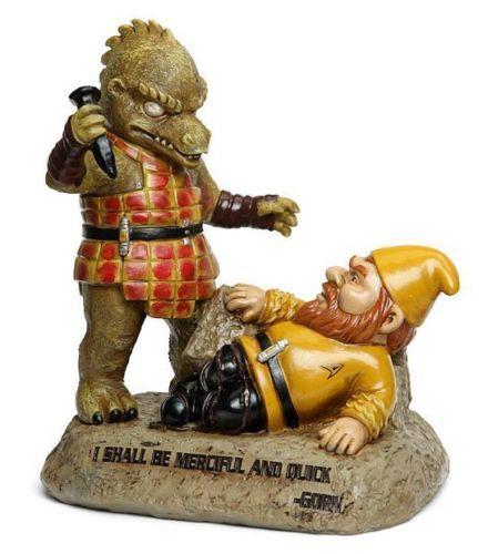 Star-Trek-TOS-Licensed-Large-10-GORN-Kirk-GNOME-Battle-GARDEN-STATUE-GeekGift