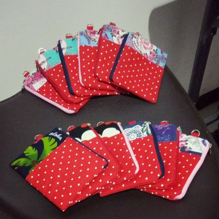 Red themed coin purses