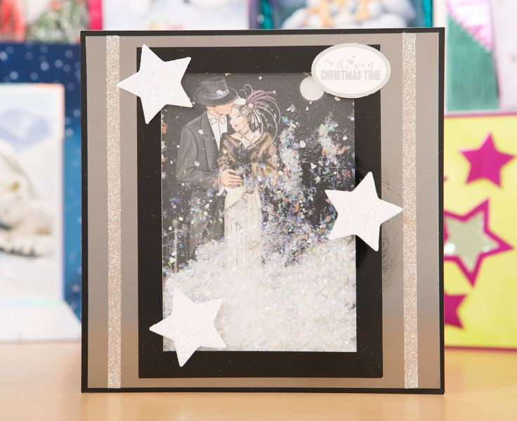 Elegant Christmas card made using the Fifty Shades of Mirri cardstock! / cardmaking / papercraft / craft