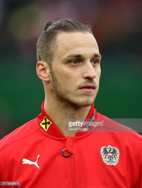 A portrait of Marko Arnautovic of Austria during the international friendly match between Austria and Albania at the Ernst Happel Stadium on March 26...