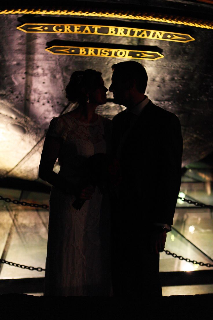 Wedding Photography SS Great Britain, Bristol Silhouette www.hanamaitlandphotography.com