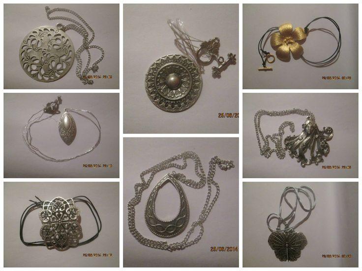 Blogul lui Bogdan si mami: Coliere argintate, lant, snur piele, fir argintat,...