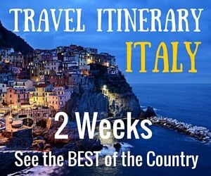 Planning a trip to Italy is not easy. From our experience, here is a Travel Itinerary for Two Weeks in Italy that will show you the best of the country!