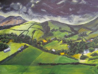 David Bage is a multi-faceted artist working with acrylics, pastels and charcoal. He creates atmospheric landscapes and moody abstracts with a vibrant bold colour palette. David paints charming country villages as well as inspiring landscapes and mountains. He also creates colourful artwork that has a stained glass window effect. Find out more at www.bageartgaller.... #art #painting #artist #fineart #acrylic #artwork #interiordesign #originalart #originalartwork #londonartwork #art