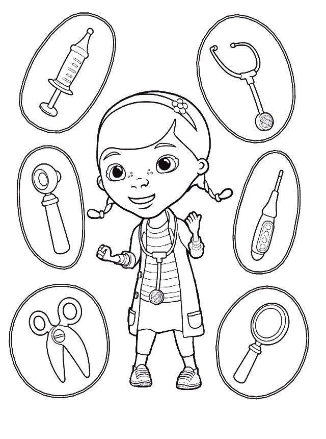 Dibujos Para Colorear De La Doctora Juguetes Imagenes Pintar Jugar Juguetes Para Colorear Doctora Juguetes Paginas Para Colorear