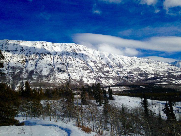 Snowshoeing in Yukon Territory Canada