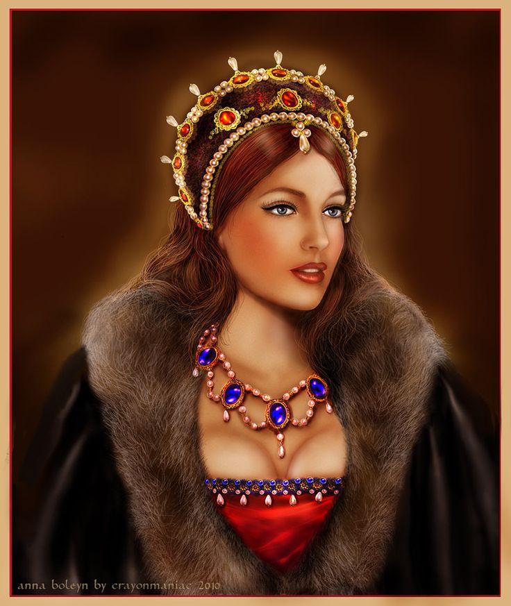 Digital Art  - Vanessa Lake como Anna Boleyn por crayonmaniac--via Deviantar