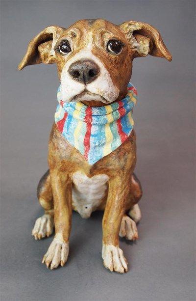 Dog sculpture by Joanne Cooke