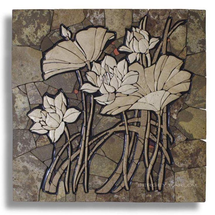 Mosaic flowers.  Станковая мозаика — Сергей КАРЛОВ