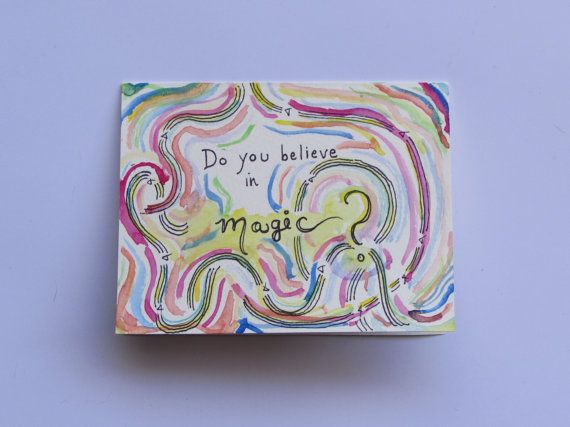 Do You Believe in Magic Handmade Greeting by AnnaJaynesDesigns, $3.95