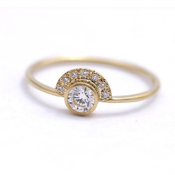 0.3 anello di fidanzamento diamante carati con pavé di di artemer