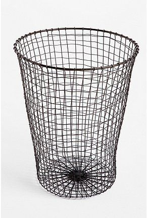 Woven Wire Trash Can...I think I can make this myself if I can get the right wire.