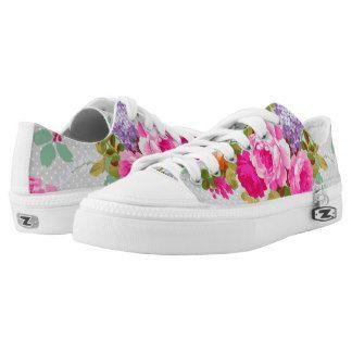 Lunares rosados de neón elegantes de los rosas del zapatillas