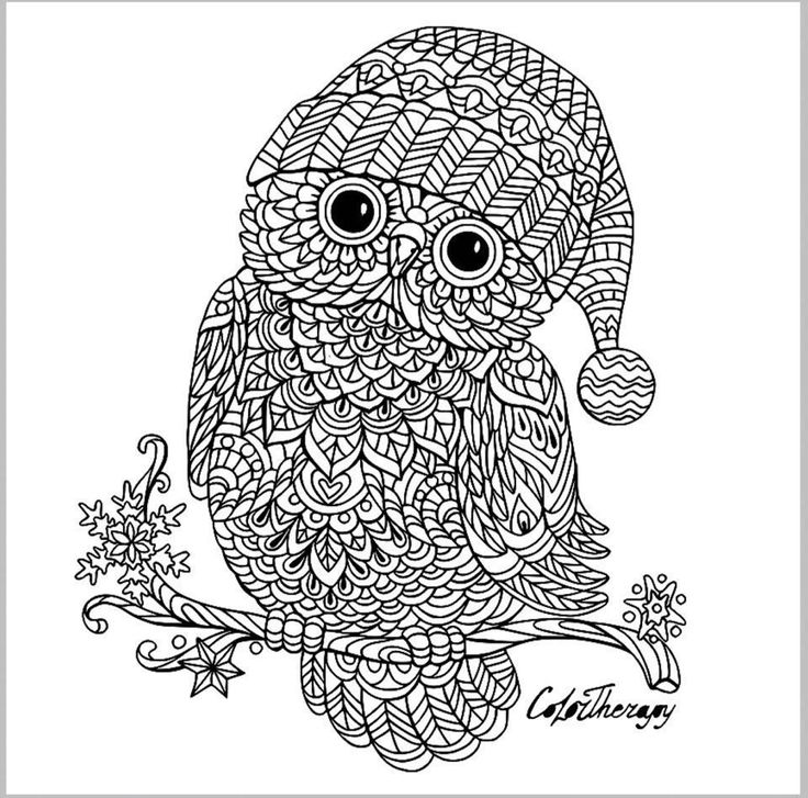 zentangle owl coloring pages - photo#24