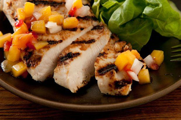 Weekday dinner ideas | Buttermilk Chicken with Peach-Tomato Salsa