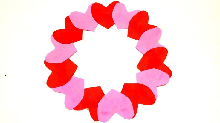 HOW TO MAKE A PAPER HEART WREATH   Valentine's Day Crafts Ideas   EMMA D...