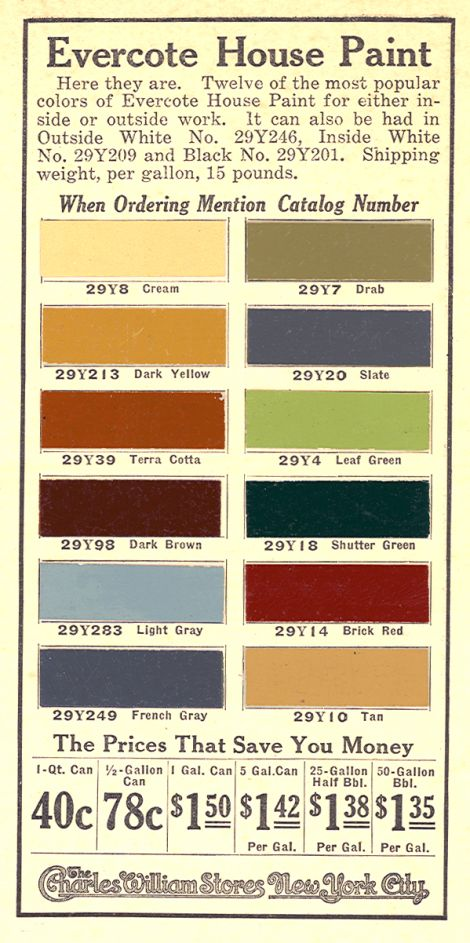 popular vintage paint colors from the early 20th century...funny, this looks like my living room!