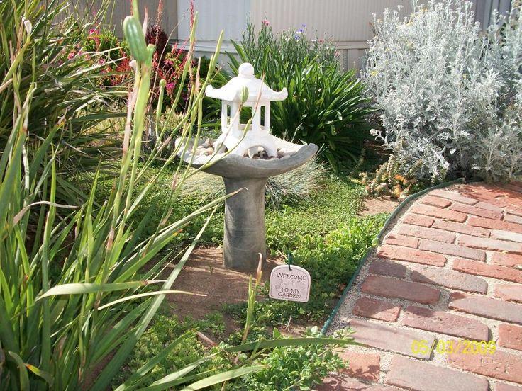 Concrete Bird Bath Garden Bird Nature