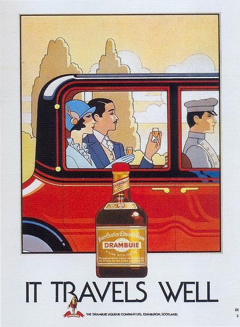 """Dranbuie Liqueur, 1985 on Flickr. Click image for 640 x 873 size.  Scanned from Taschens """"American Ads of the 80s""""."""