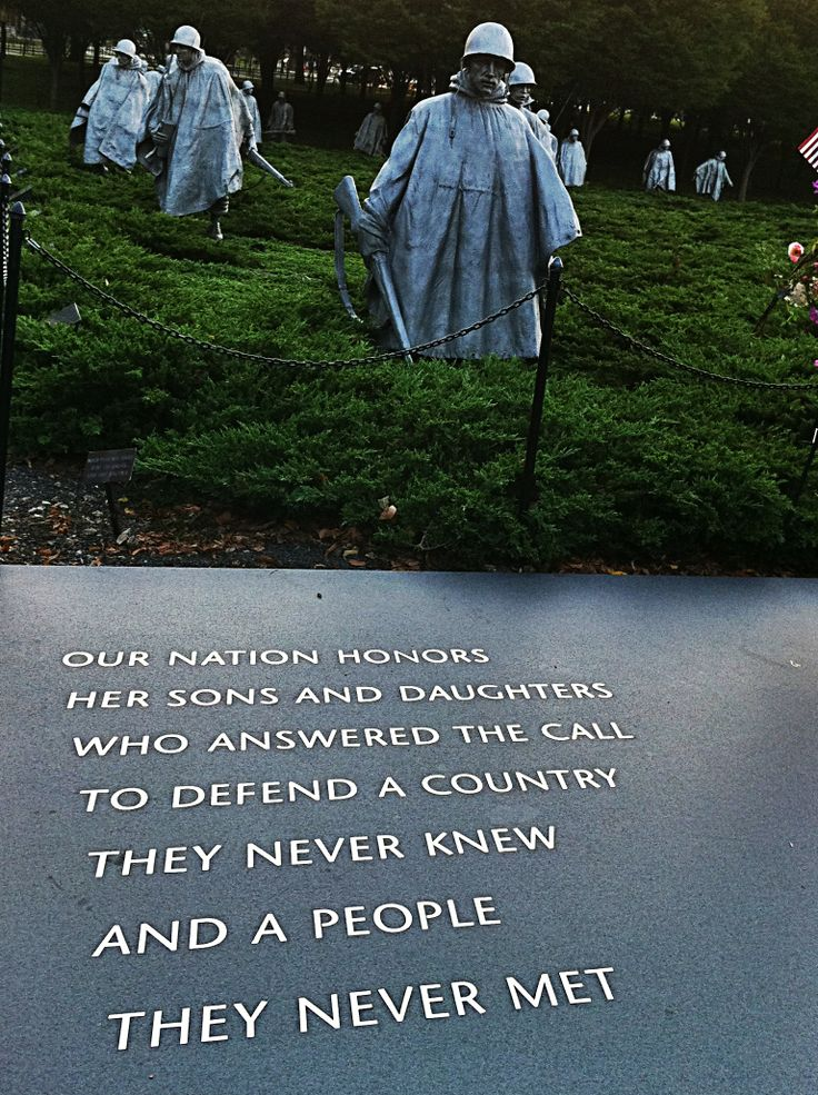 Korean War Veterans Memorial | Patriotism | Pinterest ...