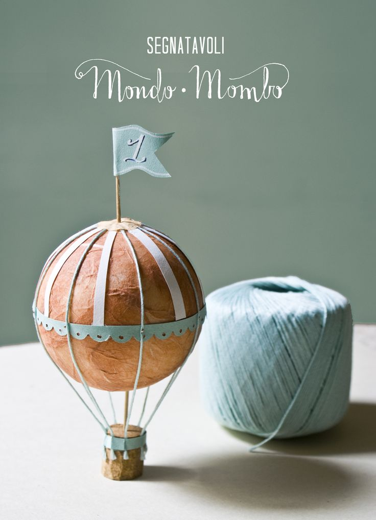 Table Number - Hot Air Balloon Wedding by Mondo • Mombo