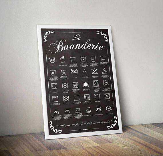 #affiche #buanderie #linge #etiquette #laundry #symbole Tous les symboles en un même endroit...
