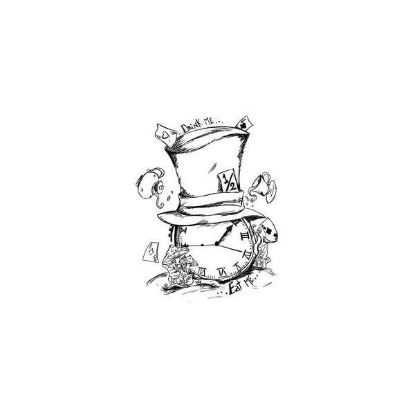 Mad Hatter and Caterpillar Tattoo by In-The-Skin via Polyvore featuring accessories and body art