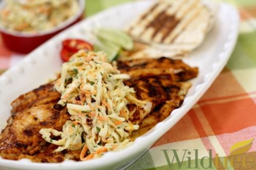 Wildtree's Chipotle Lime Fish Tacos with Cranberry Horseradish SlawRecipe