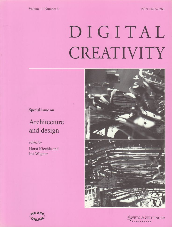 Neural [Archive] Digital Creativity - Special Issue on Architecture and Design edited by Horst Kiechle and Ina Wagner Swets & Zeitlinger Publisher http://archive.neural.it/init/default/show/2395