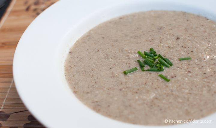 Trio of Mushroom Soup from Kitchen Confidante: Kitchens Confidant, Maine Dishes, Mushrooms Soups, Bj S Kitchens, Dairy Free, Healthy Food, Mushroom Soup, Df Milk, Yummy Soups