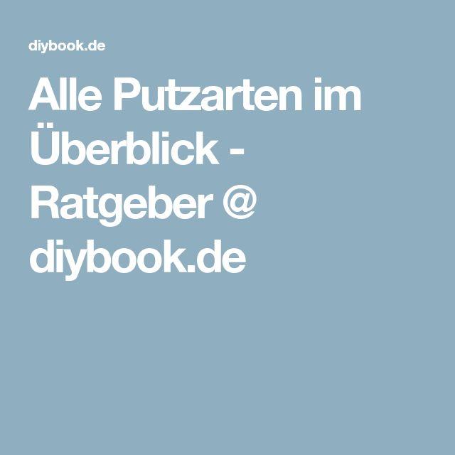 Alle Putzarten im Überblick - Ratgeber @ diybook.de