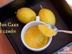 Mug cake de limón al microondas