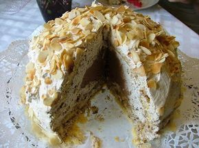 Tortaimádó: Firenzei krémtorta (Zuccotto alias Tököcske) Hozzávalók: 1 db vékony, 1-1.5 cm vastag piskótalap (mint a piskótatekercs lapja) 6 evőkanál mandula likőr 15 dkg csokoládé 12 dkg porcukor 6 dkg vaj 5 dl habtejszín 4 kávéskanál kávéaroma hántolt mandulaszeletek, pár kanálnyi 3-5 dkg porcukor Ennek a tortának az eredete Olaszországból származik, ott speciális tök-formájú tálban készítik. Elkészítés a honlapon. :)