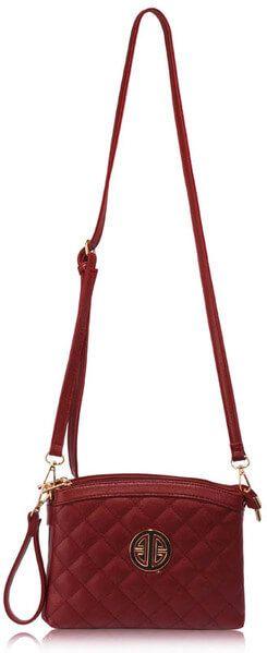 3321a896d6 Burgundy Leather Cross Body Bag For Ladies Online in Pakistan   CrossbodyBags  ShoulderBags  Women