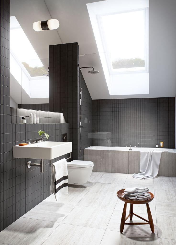 Oscar Properties #oscarproperties   Stockholm, Zootomiska, Lyceum, black, bathroom, mirror, view, plant, flower, shower , interior, design