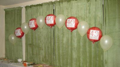 40th wedding anniversary party favors on anniversary for 40th anniversary decoration ideas
