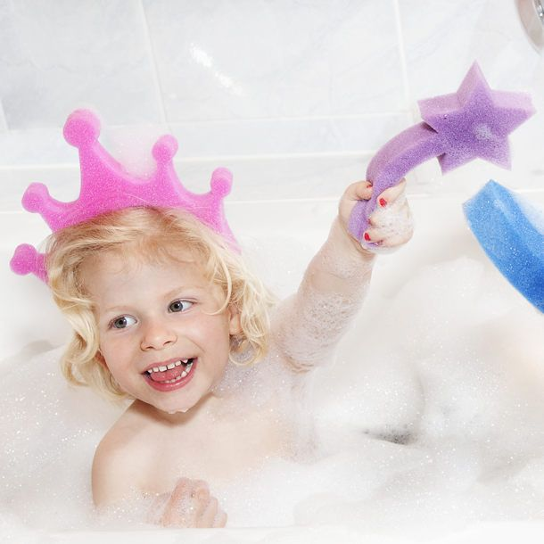 make bath time fun with princess dress up bath sponges!