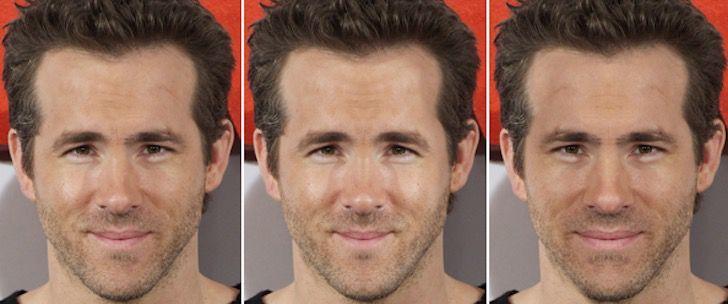 Imaginó 15 celebridades con rostros simétricamente perfectos. A Liam Hemsworth no le queda nada bien