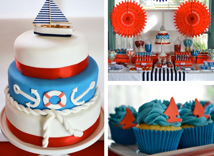 boy nautical birthday: Nautical Cakes, Birthday Parties, 1St Birthday, Sailors Birthday, Nautical Baby, Parties Ideas, Nautical Theme, Nautical Parties, Sailing Boats