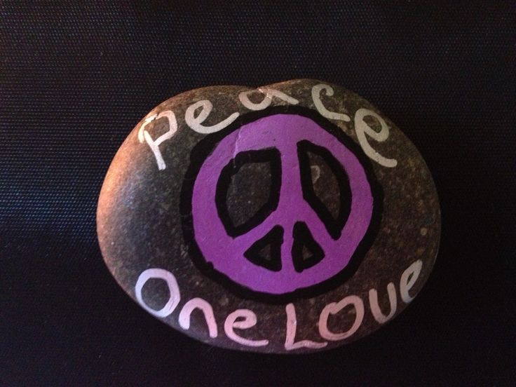 Painted stones.  Peace